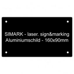 Aluminiumschild - v2 - 160x90mm