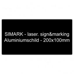 Aluminiumschild - 200x100mm