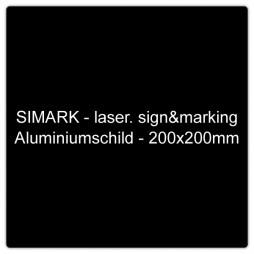 Aluminiumschild - 200x200mm