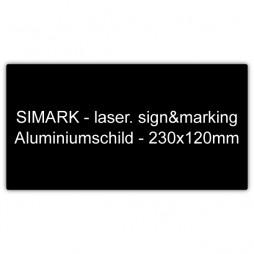 Aluminiumschild - 230x120mm