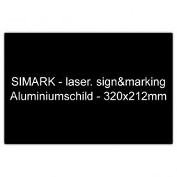 Aluminiumschild - 320x212mm