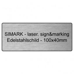 Edelstahlschild - v0 - 100x40mm - 1,5mm