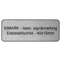Edelstahlschild - 40x15mm - 1,5mm