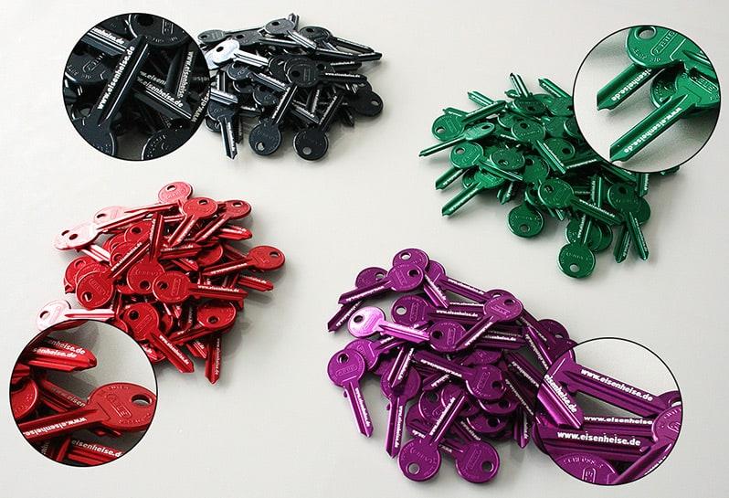 Schlüsselrohlinge mit Gravur
